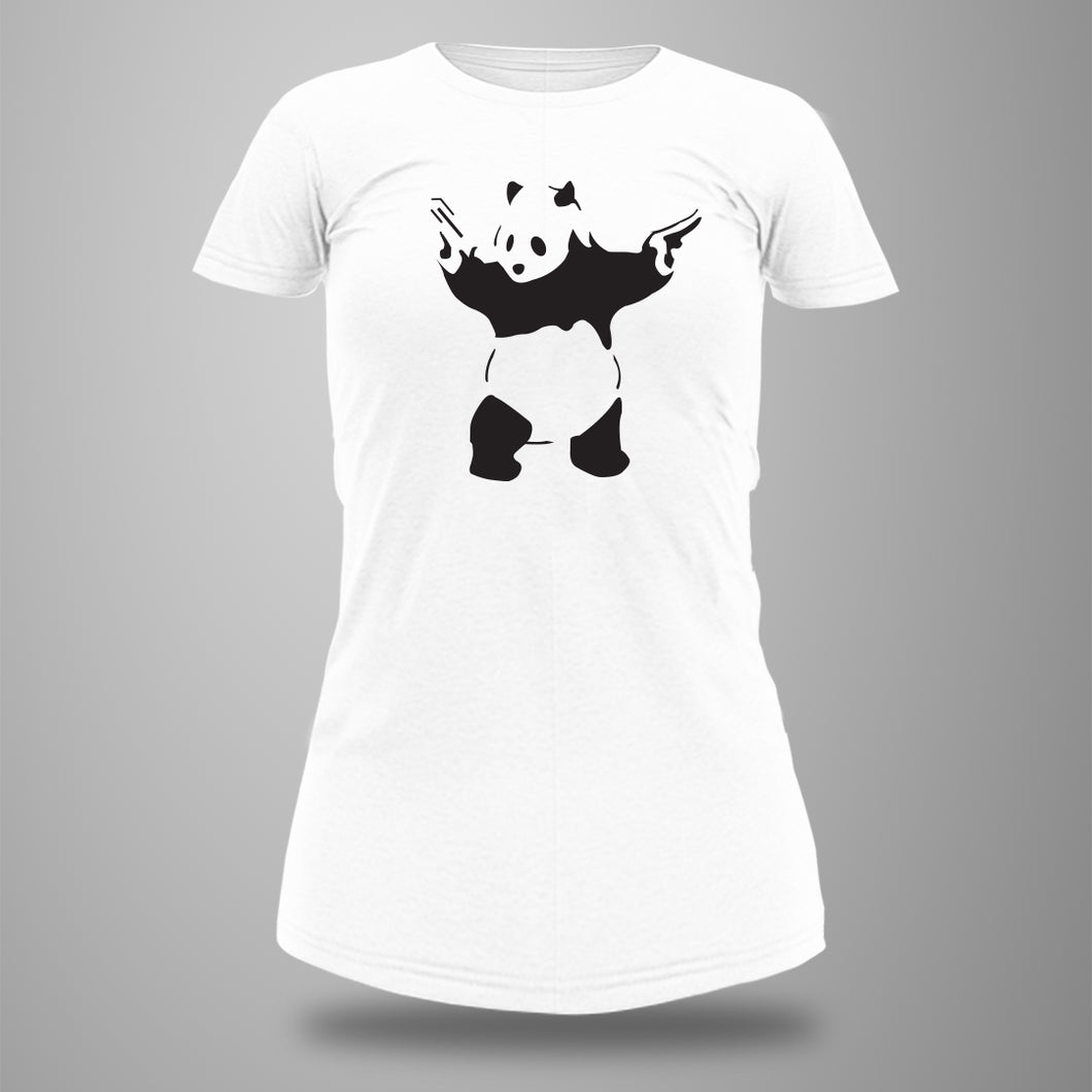 Panda with gun Long Tee