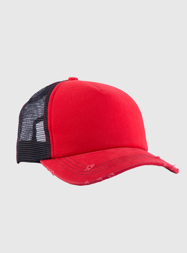 Red mesh cap (customize your design)