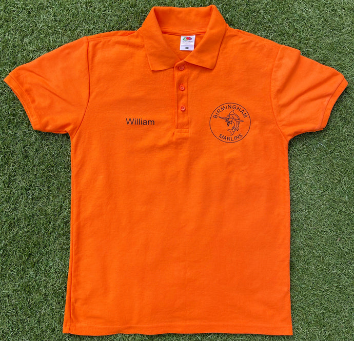 Birmingham Marlins Polo Shirt (with personalised name if required at no additional cost)