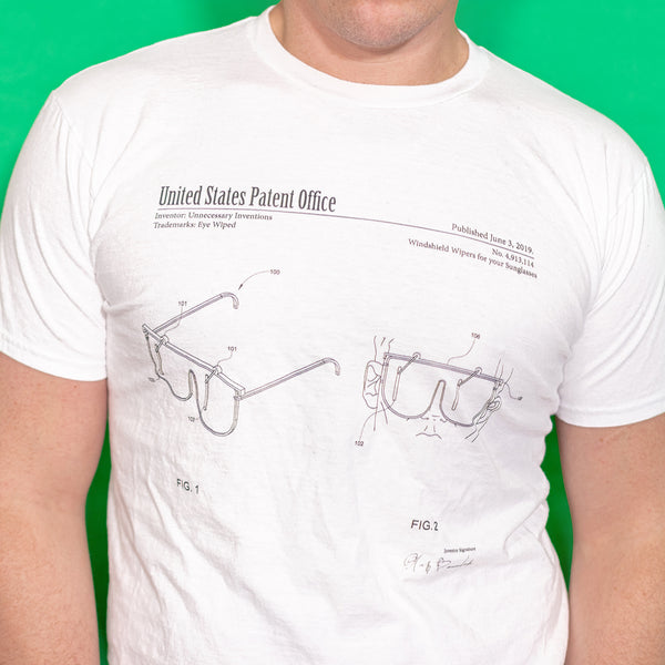 EyeWiped T-Shirt - Unnecessary Inventions