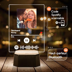 Custom Spotify Bluetooth Speaker Acrylic Night Light with 7 Colors Spotify Bluetooth Player