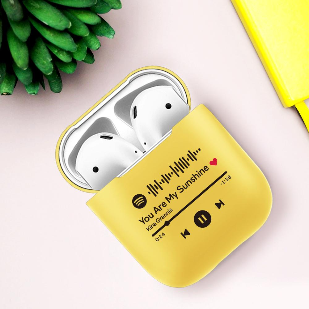 Custom Spotify Code Airpods Case Bluetooth Earphone Protective Case For Kids