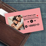 Custom Spotify Music Code Wallet Card Personalized Message Card