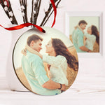 Custom Spotify Code Music Hanging Ornament With Photo - Yellow For Valentine's Day