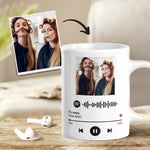 Custom Spotify Code Album Cover Photo Mug For Friends