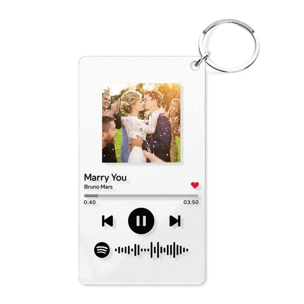 Spotify Glass - Personalized Spotify Code Music Plaque Keychain(54mm*86mm)