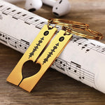 Custom  Engraved Music Song Spotify Code Keyring Gifts for Couple