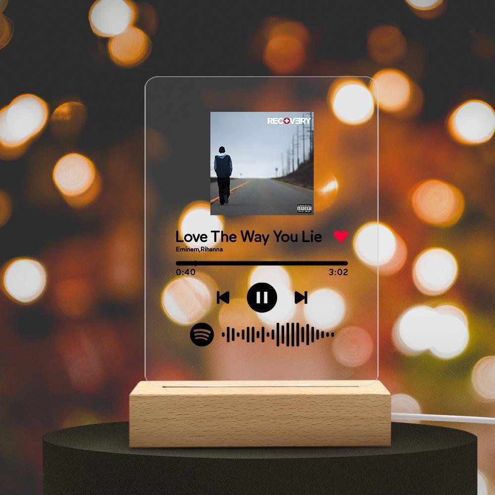 Custom Spotify Code Music Plaque Night Light(150mm x 195mm)-Father's Day Gift
