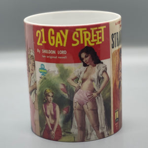 Vintage Lesbian Pulp Fiction Paperback Cover Mug