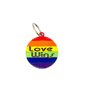 Rainbow Love Wins keychain