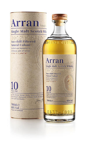 Arran 10 year old single malt Scotch Whisky 700mL