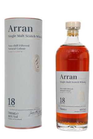 Arran 18 year old single malt scotch whisky 700ml