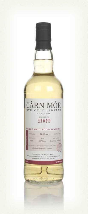 Dufftown 10 year old 2009 single malt scotch whisky by Carn Mor Strictly Limited 700ml in gift box