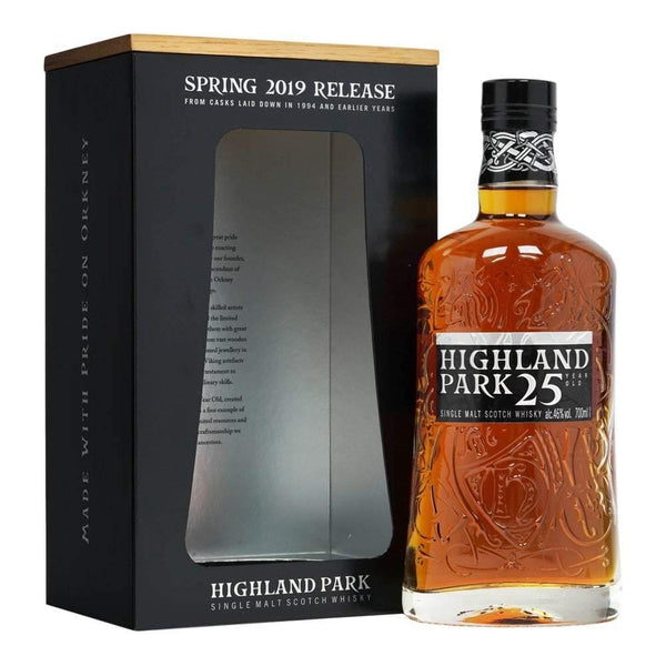 Highland Park 25 year old spring 2019 single malt Scotch Whisky 700ml