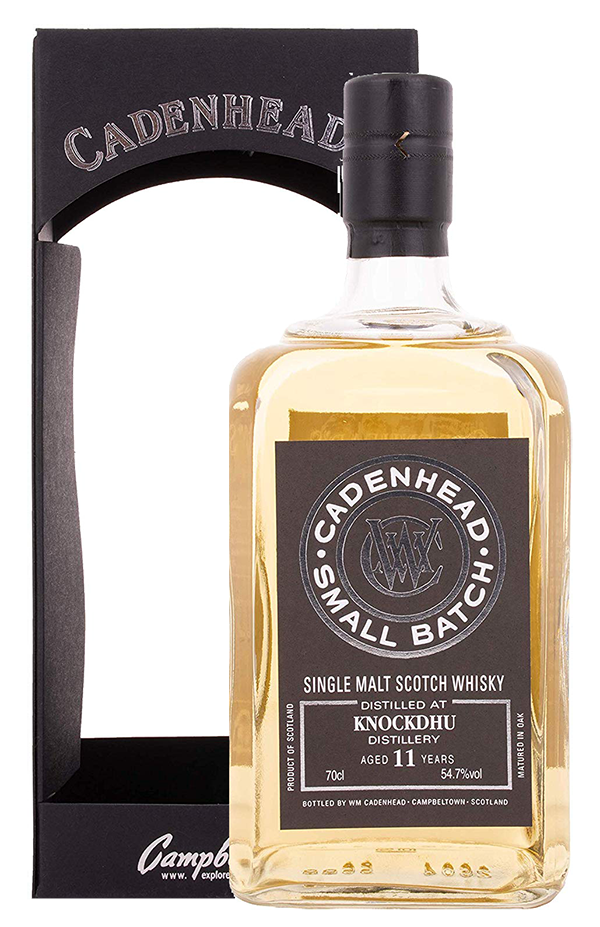 Knockdhu 11 year old 2006 small batch scotch whisky by Cadenhead 700ml in giftbox