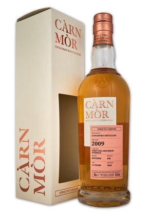 Longmorn 11 year old 2009 Morrisons Carn Mor Strictly Limited Scotch Whisky with Gift Box