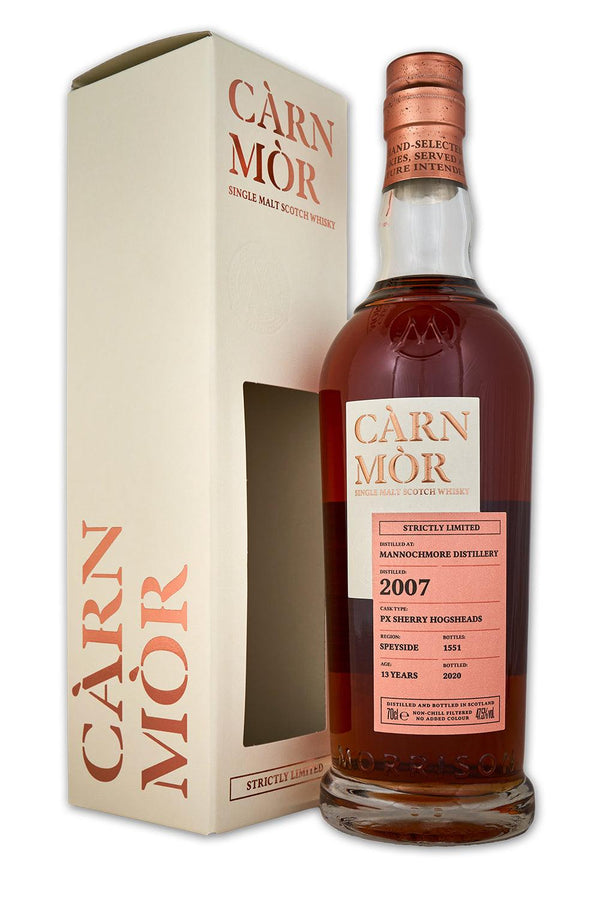 Mannochmore 13 year old 2007 morrisons carn mor strictly limited scotch whisky with gift box