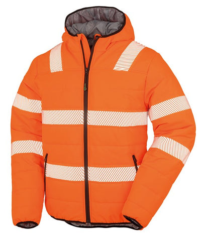 R500X Result Recycled Ripstop Padded Hi Vis Safety Jacket
