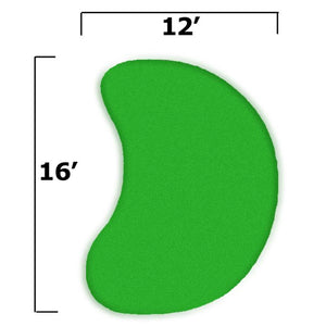15x19 Par Saver Putting Green Kit w/o Fringe (Kidney)  (finished green 12x16)