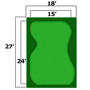 18x27 Complete Par Saver Putting Green w/ Symbior Fringe - Seamed