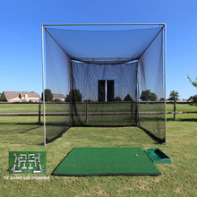 Load image into Gallery viewer, Tee Line Golf Mat, 10x10x10 Masters with Frame kit & ball tray