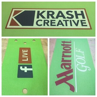 Spotlight: Custom Logo Putting Greens