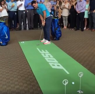 Rory shows his World Class Putting Skills on BirdieBall's World Class Putting Mat!