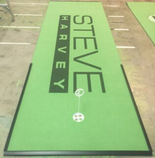 Big Steve Harvey Fan! Fun to Make this BirdieBall Putting Green for his Show!