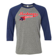 Load image into Gallery viewer, Mustang Baseball Shirt - Navy - Adult