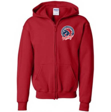 Mustang Hoodie - Red - Youth