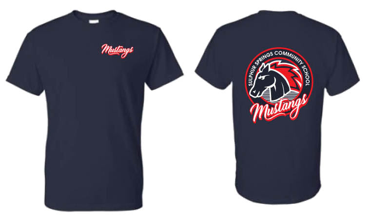 Mustang T-Shirt - Adult - Navy