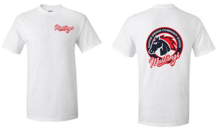 Mustang T-Shirt - Adult - White