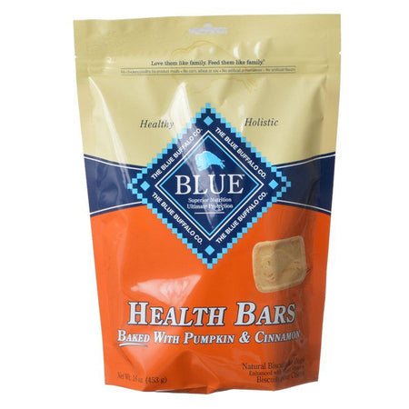 Blue Buffalo Health Bars Dog Biscuits - Baked with Pumpkin & Cinnamon 16 oz - Snugglenook