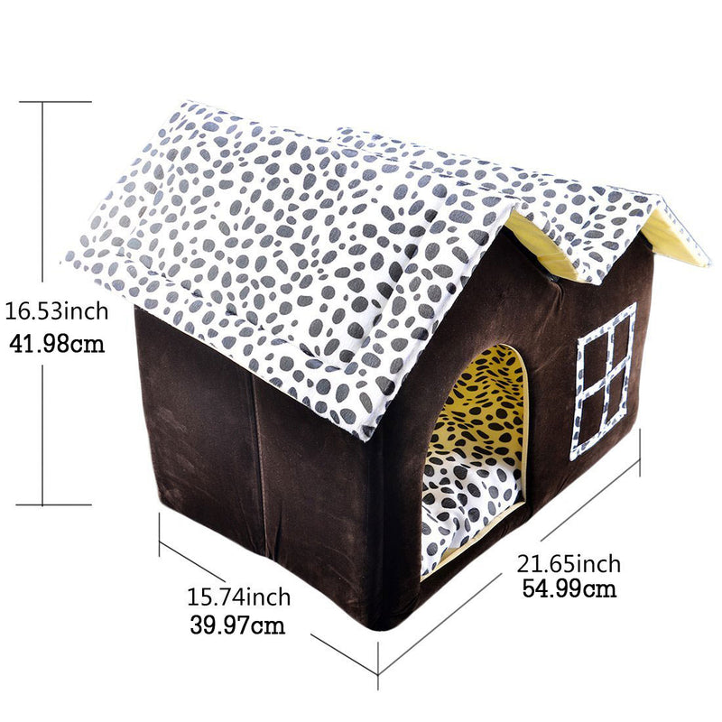 Warm Foldable Thick Cotton Cushion Soft Comfortable Pet Bed