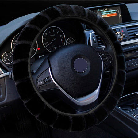 Warm Wool Car Steering Wheel Cover
