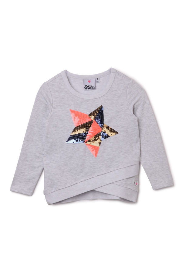 Sparkle Star Crew Jumper Size 7 - Eve's Sister