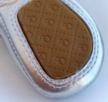 Load image into Gallery viewer, Baby Boat Shoes Silver - Old Soles
