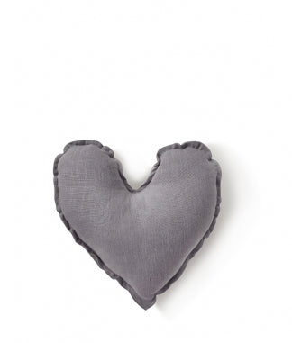 Dove Grey Heart Cushion Small - Nana Huchy