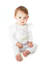 Load image into Gallery viewer, White 3 Bow Onesie- Alex & Ant