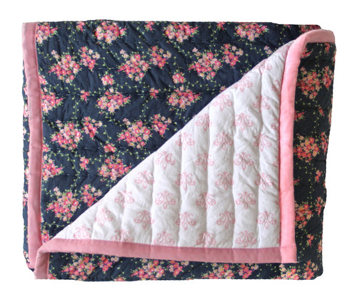 wildflower and blossom cot quilt/playmat- alimrose