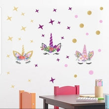 Load image into Gallery viewer, unicorn wall decal - pink