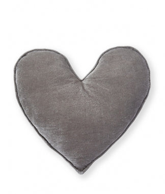 Grey Velvet Heart Cushion Large - Nana Huchy