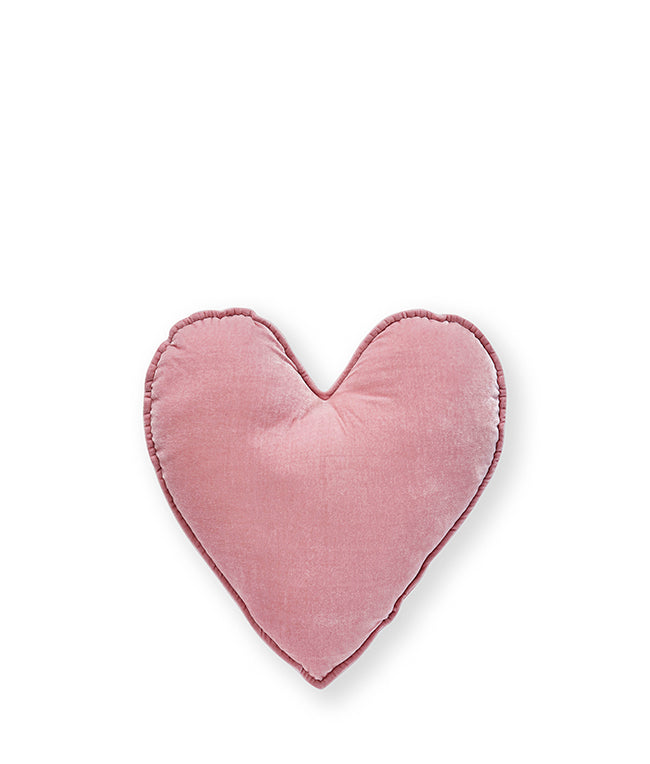 Pink Velvet Heart Cushion Small - Nana Huchy