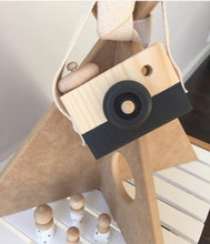 Load image into Gallery viewer, wooden toy camera- behind the trees