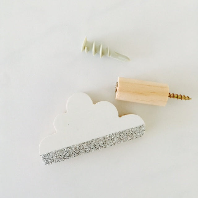 silver lining cloud wall hook