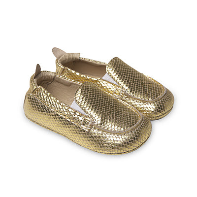 gold snake boat shoes- old soles