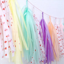 Load image into Gallery viewer, Conversation Hearts Tassel Garland- by Studio Mucci