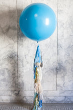 Load image into Gallery viewer, Silver slate blue tassel garland- by studio mucci