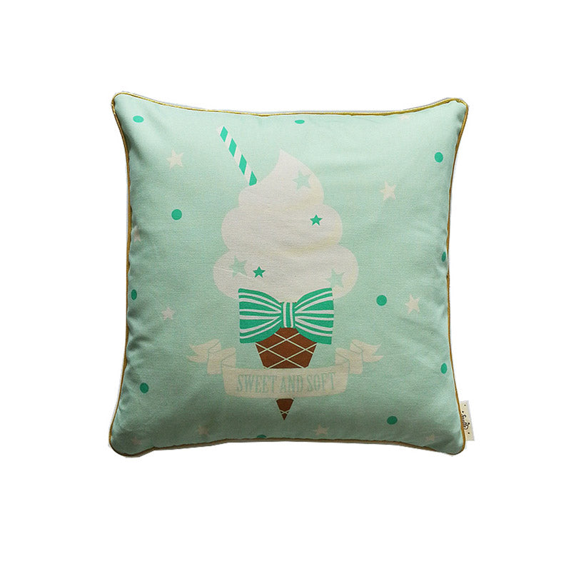 Mint Ice Cream Cushion Cover