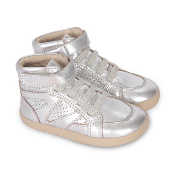 silver cheer high tops - old soles